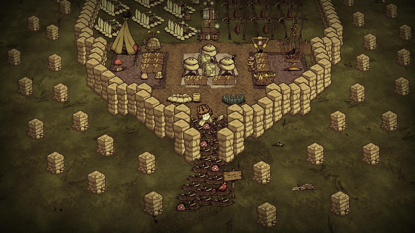 Don T Starve Guide First Meat And Base Setup By