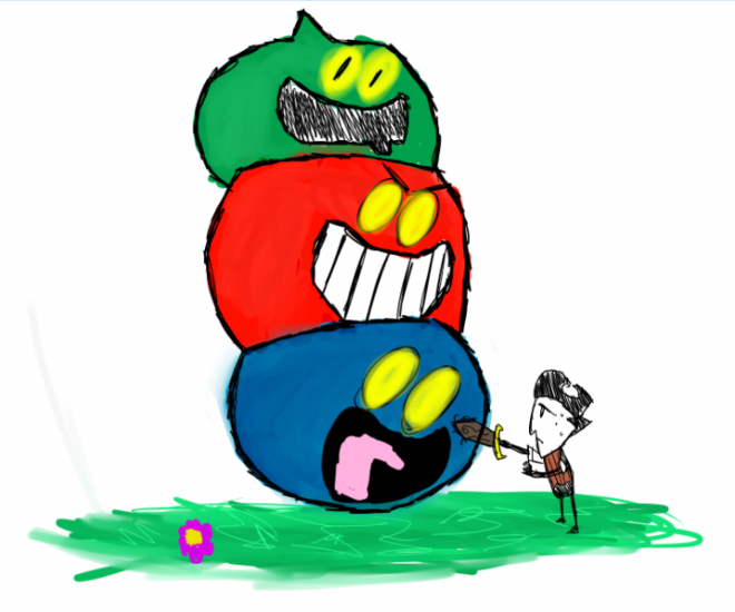 Wilson 010 Dragon Quest Slime Stack fight.png